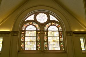 Stained Glass-Front Window
